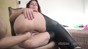 Argendana gets Hard Anal Fisting From her Man