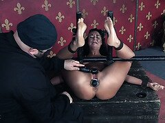 Bondaged London River Gets Fisted And Toyed By A Nasty Master