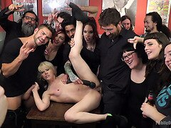 Nora Barcelona Fisted and Fucked In A Bar Full Of Onlookers