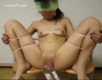Tiny Asian Submissive Teen gets Double Fisting and Bottle Insertion