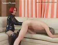 Hot Femdom Fisting and Strap On Fucking For Sub Guy
