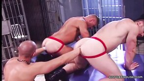 Two Prisoners Fisted In Arousing Gay Porno