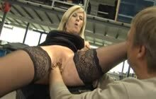 Marina Montana gets her pierced pussy get fisted hard and fucked