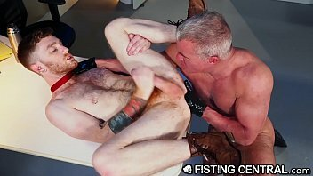 FistingCentral   Mature Boss Catches Employee Jerking