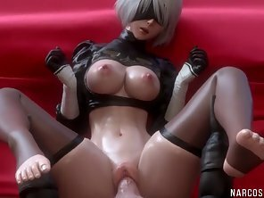 Round Boobs Anime Babe Slammed Her Pink Pussy By Hubby Hard Dick