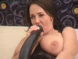Busty Brunette Babe Fisted And Fucked With A Huge Dildo