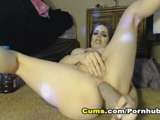 Busty Babe Hardcore Anal Fisting On Webcam